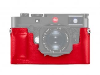 Leica M10 Protektor Leder, rot