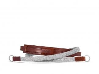 Leica Tragriemen Lifestyle, Leder/Textil, grau