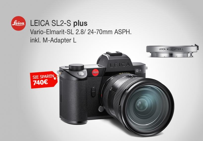 LEICA SL2-S + Vario-Elmarit-SL 2.8/ 24-70mm ASPH. inkl. silbernem M-Adapter L - Start